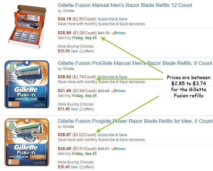 Gillette Fusion Refills