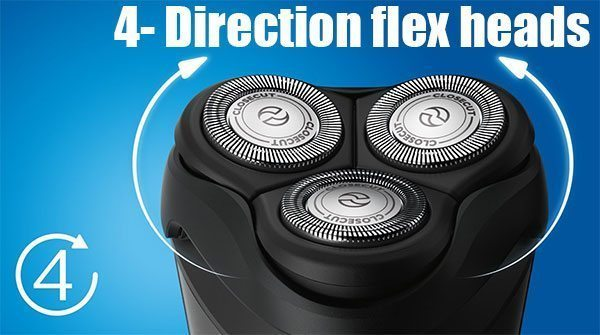 4- Direction flex heads